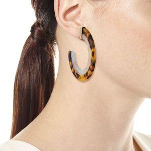 BaubleBar Desiy Resin Hoop Earrings